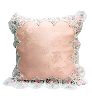 Lovely Lace Cushion with Insert-Pink