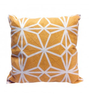 Lovely Lace Cushion with Insert-Yellow Full Embroidery