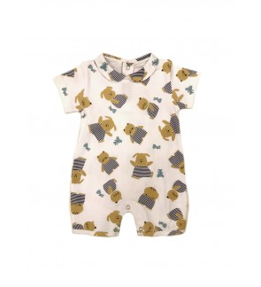 Baby Boy Short Sleeve Polo Romper