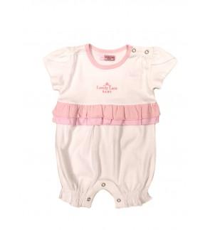 Baby Girl Round Neck Short Sleeve Romper