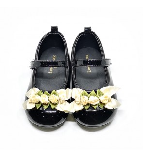 Girl Black Shoes Size 19-28