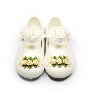 Girl Cream Shoes Size 19-28