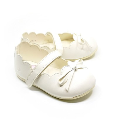 Girl Cream Shoes Size 21-28