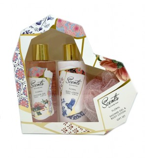 200ml Floral Shower Gel & Body Lotion Set