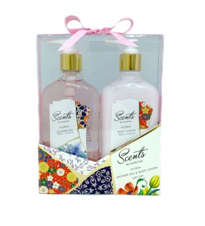330ml Floral Shower Gel & Body Lotion Set