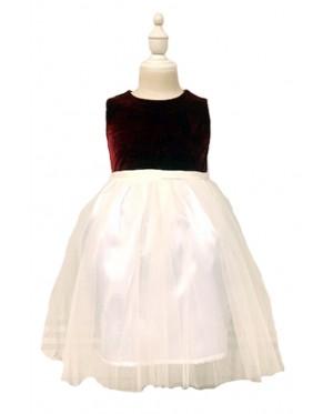 Toddler Red Velvet Sleeveless Dress