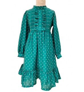 Children Long Sleeve Dress (6-12 Years Old)