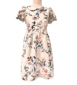 Children Short Sleeve Dress (6-12 Years Old)