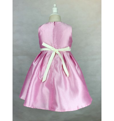 Toddler Sleeveless Pink Dress (1-5 Years Old)