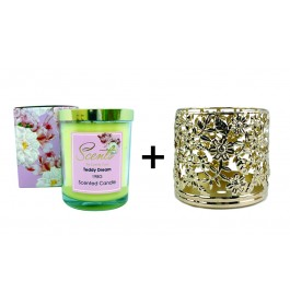 Scented Candle + Holder (RM59.90)