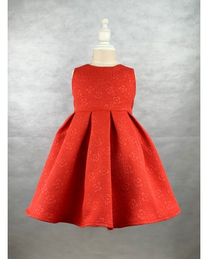 Toddler Sleeveless Red Dress (1-5 Years Old)