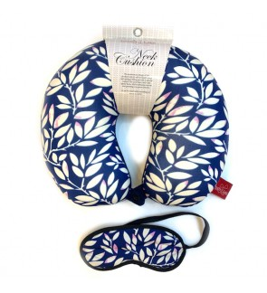 Neck Pillow with Matched Eyemask - Leaf