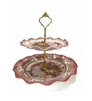 2 Tier Porcelain Cake Stand